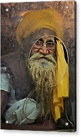 Yellow Turban At The Window Acrylic Print