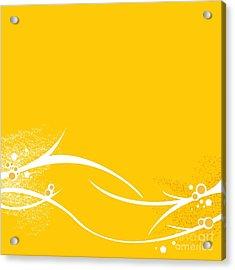 Yellow Twigs Acrylic Print
