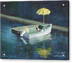 Yellow Umbrella Acrylic Print