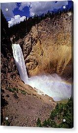 Yellowstone Falls Acrylic Print by John Brink