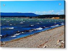 Yellowstone Lake Acrylic Print by Daniel Dodd