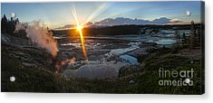 Yellowstone Norris Geyser Basin At Sunset - 02 Acrylic Print by Gregory Dyer