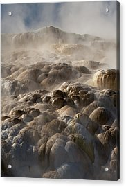 Acrylic Print featuring the photograph Yellowstone Steam by J L Woody Wooden