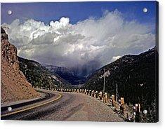 Yellowstone Under Lowering Skies Acrylic Print by Rod Jones