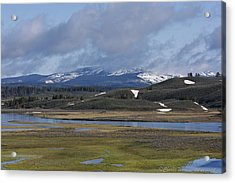 Yellowstone Vista 10 Acrylic Print by Charles Warren