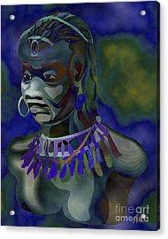 Yemaya  Acrylic Print by Liz Loz