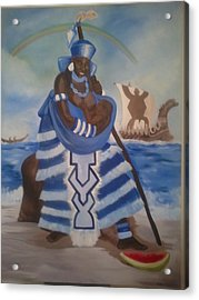 Yemaya - Mother Of The Ocean Acrylic Print by Sula janet Evans