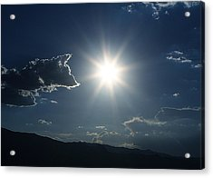 Yes That Is The Sun Acrylic Print by Louise Mingua