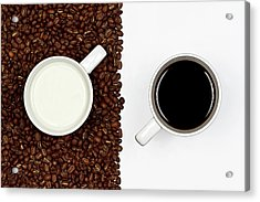 Yin And Yang Coffee And Milk Acrylic Print by Gert Lavsen Photography