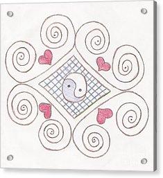 Yin Yang Swirls Pastel Acrylic Print by Jeannie Atwater Jordan Allen