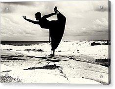 Yoga Balance Acrylic Print by Stelios Kleanthous