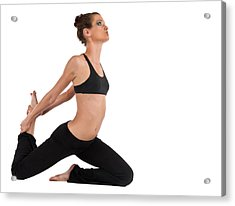 Acrylic Print featuring the photograph Yoga King Pigeon Pose by Jim Boardman