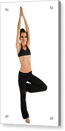 Yoga Pose Tree Acrylic Print