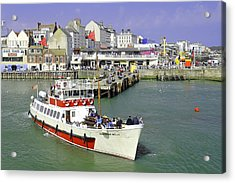 Yorkshire Belle Turning In Bridlington Harbour Acrylic Print by Rod Johnson