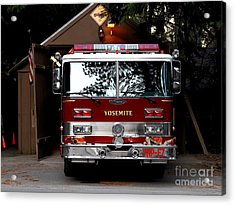 Yosemite California Fire Engine . 7d6142 Acrylic Print by Wingsdomain Art and Photography