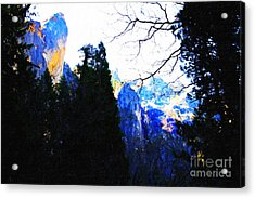 Yosemite Snow Top Mountains Acrylic Print by Wingsdomain Art and Photography
