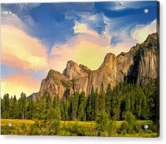 Yosemite Valley Morning Acrylic Print by Dominic Piperata