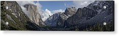 Yosemite Valley Panoramic From Tunnel View Acrylic Print by Joseph Wilson
