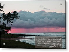 You Will Get There Acrylic Print by Dana Kern