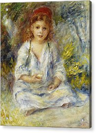 Young Algerian Girl Acrylic Print by Pierre Auguste Renoir