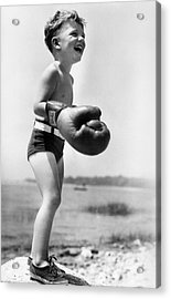 Young Boxer Acrylic Print by Doris Day