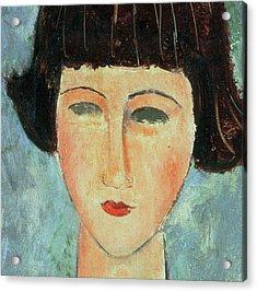 Young Brunette Acrylic Print by Modigliani