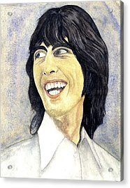 Young George Acrylic Print by Michael Rowley