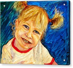 Acrylic Print featuring the pastel Young Girl 2 by Amanda Dinan