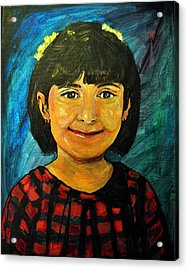 Acrylic Print featuring the pastel Young Girl 4 by Amanda Dinan