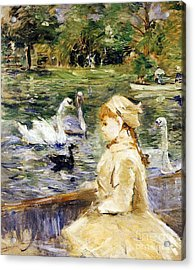 Young Girl Boating Acrylic Print by Berthe Morisot
