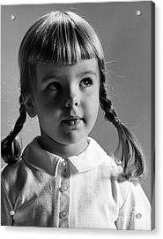 Young Girl Acrylic Print by Hans Namuth and Photo Researchers