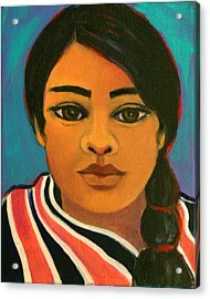 Young Mexican Girl Acrylic Print
