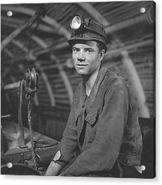 Young Miner Acrylic Print by John Craven