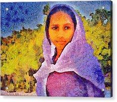 Young Moroccan Girl Acrylic Print