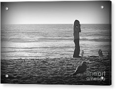 Young Professional Photographer Acrylic Print by Trude Janssen