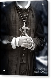 Young Renaissance Priest Acrylic Print by Jill Battaglia