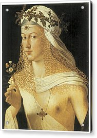 Young Woman Acrylic Print by Bartolommeo Da Veneto