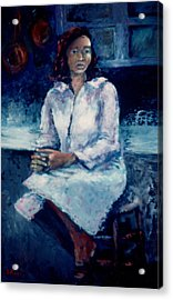 Young Woman Acrylic Print by Bettye  Harwell