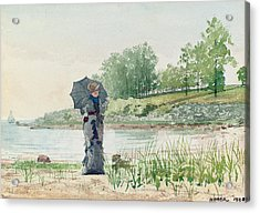 Young Woman Acrylic Print by Winslow Homer
