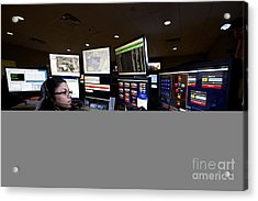 Young Woman Working In The Emergency Acrylic Print
