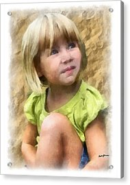 Youngest Daughter Acrylic Print by Anthony Caruso
