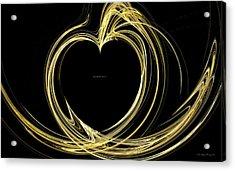 Your Golden Heart Acrylic Print by Wayne Bonney