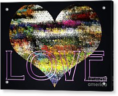 Your Heart Is My Pinata Acrylic Print by Gwyn Newcombe