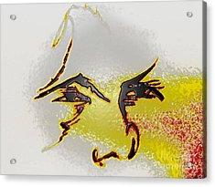Your Plastic Face Acrylic Print by Robert Haigh