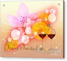 You're Invited Acrylic Print by Heinz G Mielke