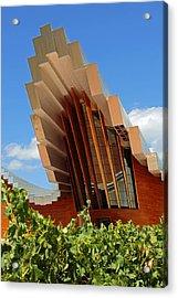 Ysios Winery Spain Acrylic Print by John Stuart Webbstock