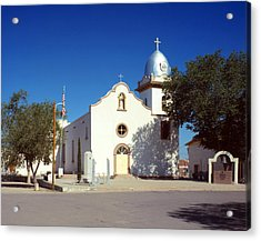 Ysleta Mission. La Misi�n De Corpus Acrylic Print by Everett