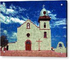 Ysleta Mission Texas Acrylic Print by Kurt Van Wagner
