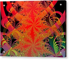 Acrylic Print featuring the digital art Yuletide by Ann Peck