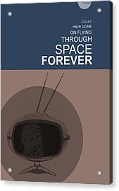 Yuri Gagarin Poster Acrylic Print by Naxart Studio